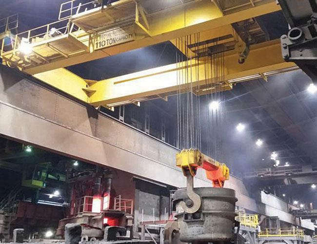 Furnace Foundry Casting Overhead Ladle Crane 5-320t For Steel Plant.jpg